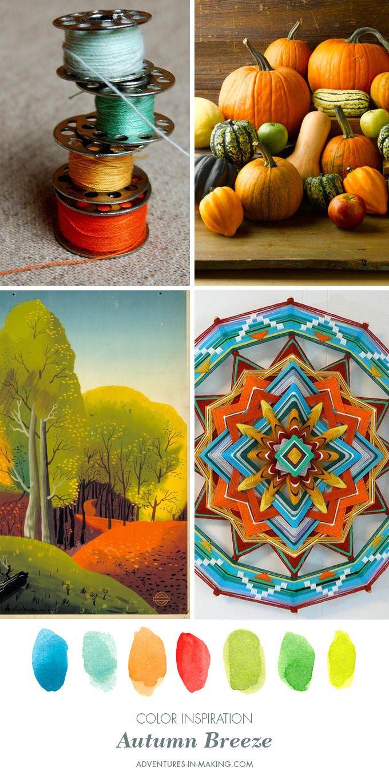 COLOR INSPIRATION: Autumn Breeze | http://adventures-in-making.com/color-inspiration-autumn-breeze/