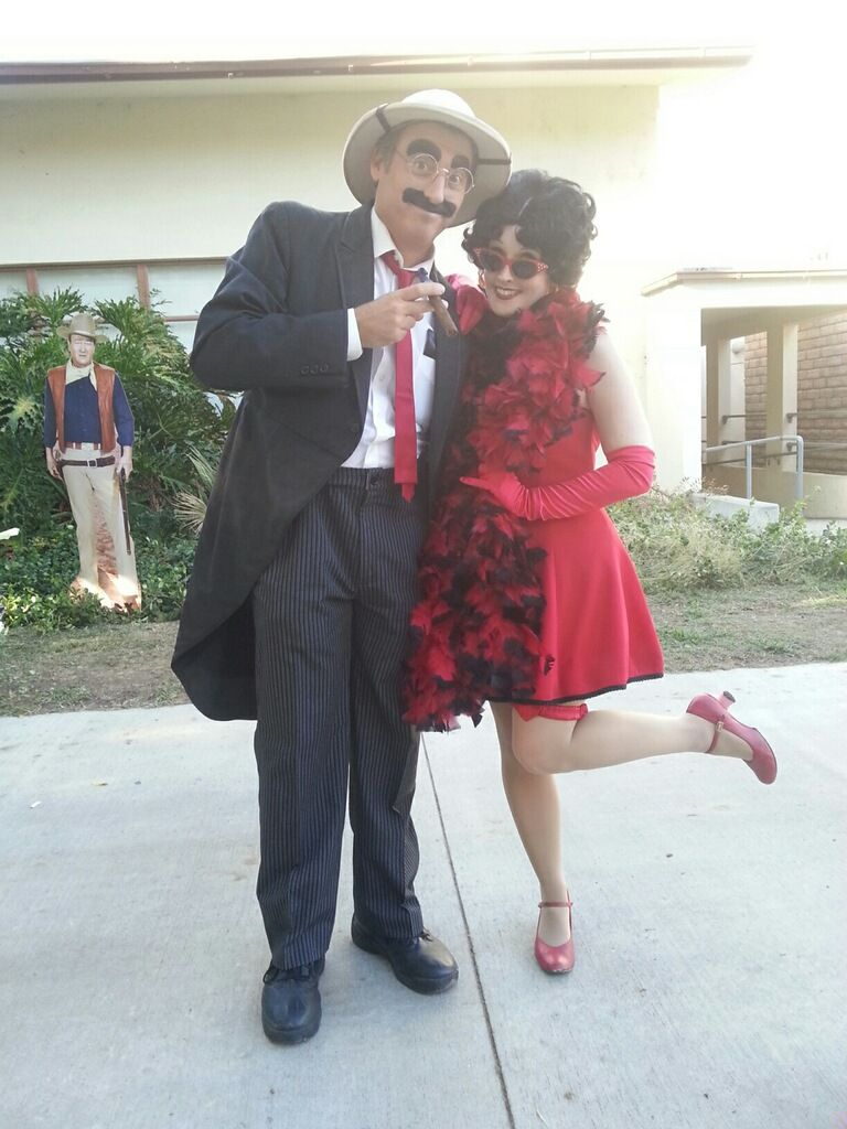 Ginger as Betty Boop with Groucho Marx at the Burbank Kennel Club Dog Show. 9/27/2014