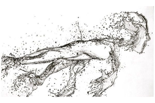 Running Water (Pencil) by Paul-Shanghai (print image)