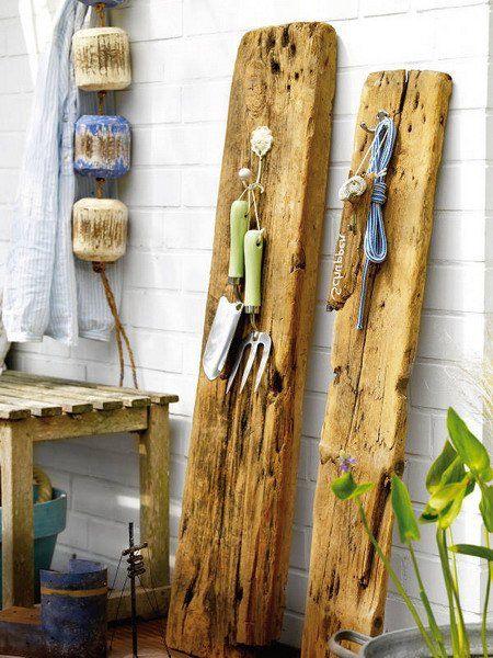originelle Deko-Ideen - rustikales Holz als Holzbretter - deko idee holz