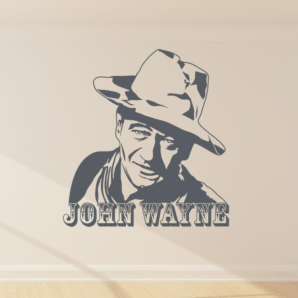 John Wayne Wall Decal Joker Artwork John Wayne Pond Painting