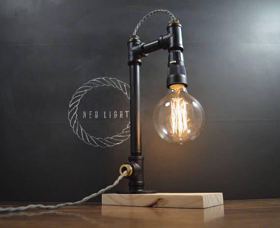Ampere Black Pipe Lamp