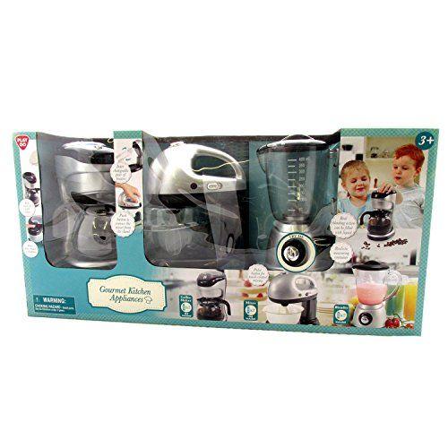 Kids Pretend Play Gourmet Kitchen Appliance 3 Piece Set Blender Coffee Maker and Mixer PlayGo http://www.amazon.com/dp/B00FOT22D0/ref=cm_sw_r_pi_dp_Zy8zwb0YPZ81K