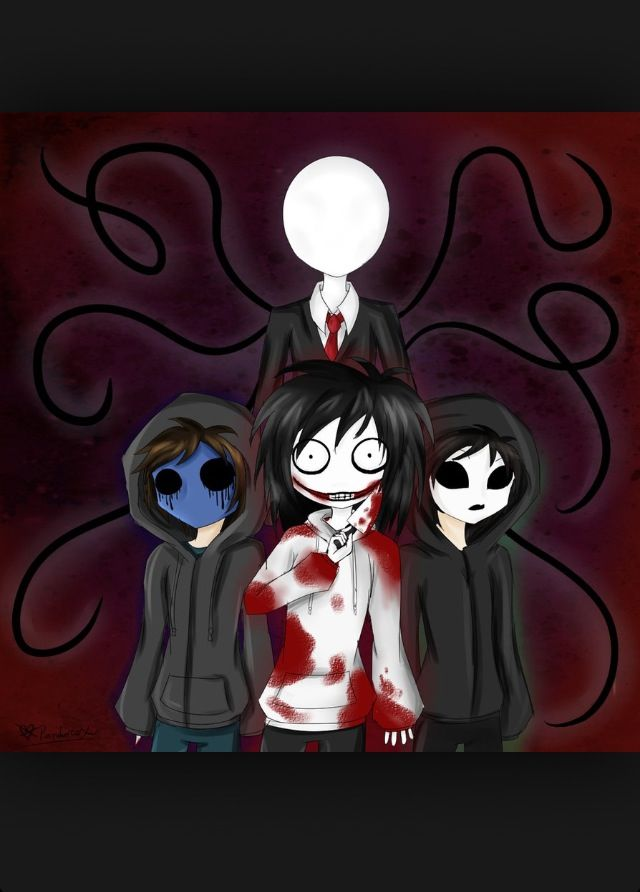 Slenderman Eyeless Jack Jeff The Killer Masky Creepy Pasta