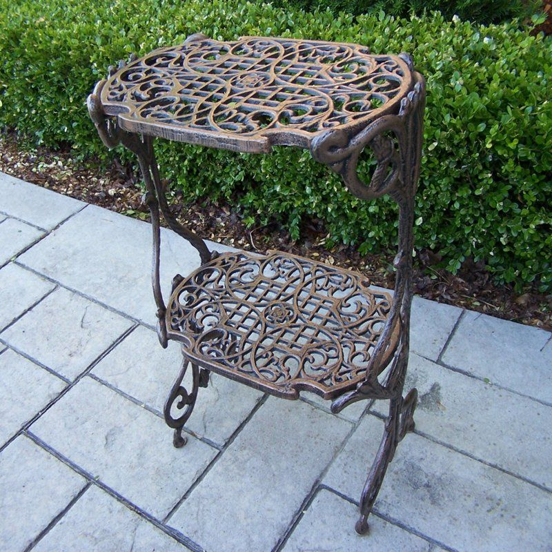 Oakland Living 2 Level Plant Stand Iron Plant Stand Plant Stand Table Oakland Living