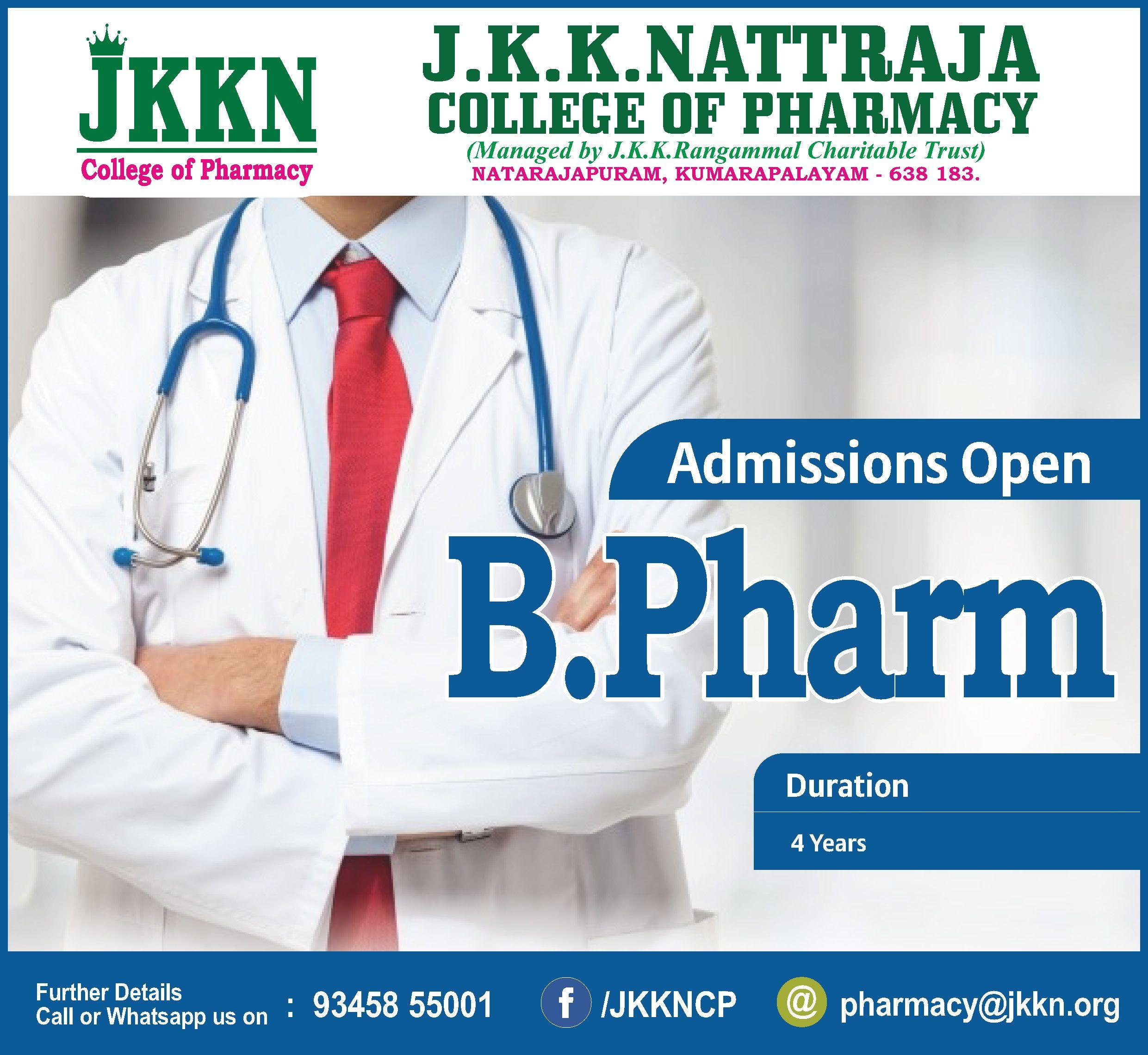 B.Pharm (Bachelor In Pharmacy) Is A Job Oriented