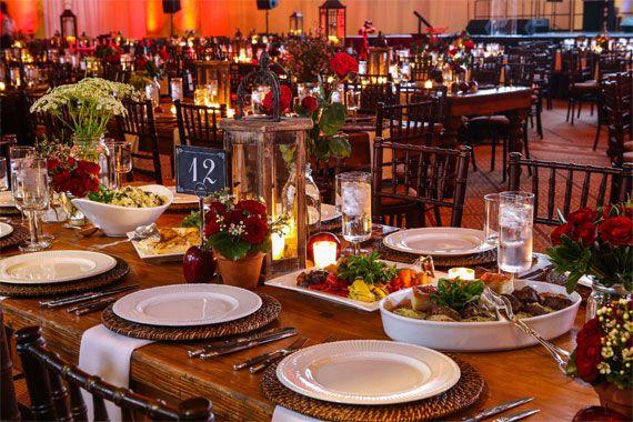 Table Setting For Rectangular Family Style
