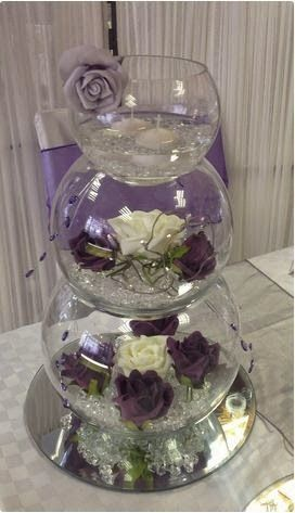 Multilevel Wedding Fish Bowl Flowers Decorations Ideasg 272473