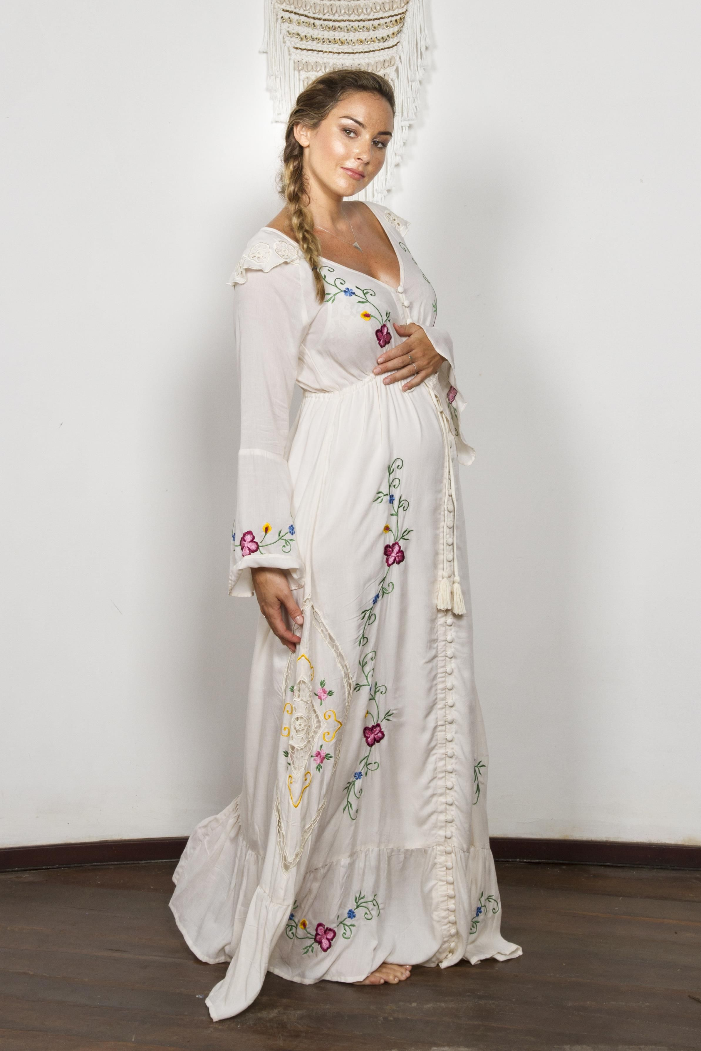 Stevie womens embroidered duster pink vanilla style on stevie womens embroidered duster pink vanilla fillyboo boho inspired maternity clothes online maternity dresses maternity tops and maternity jeans ombrellifo Choice Image
