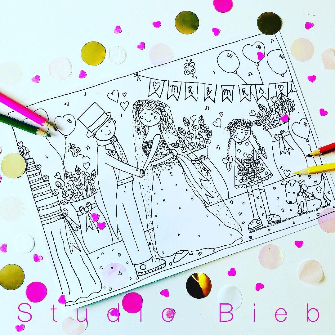 Kleurplaat Bruiloft Biebje Kinderen Op Bruiloft Knutselen Bruiloft Knutselen Bruiloft Juf