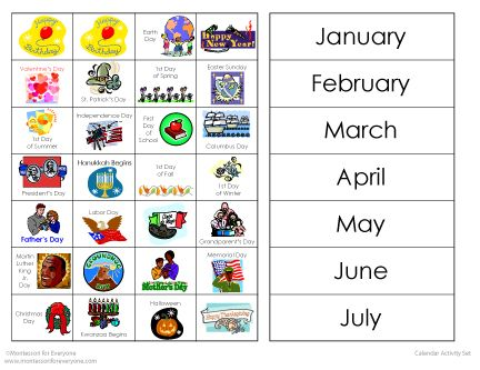 HereS A Nice Set Of Materials For Calendar Activities Includes