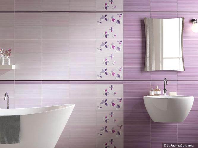 Image result for bagno lilla e bianco | kupatila | Pinterest