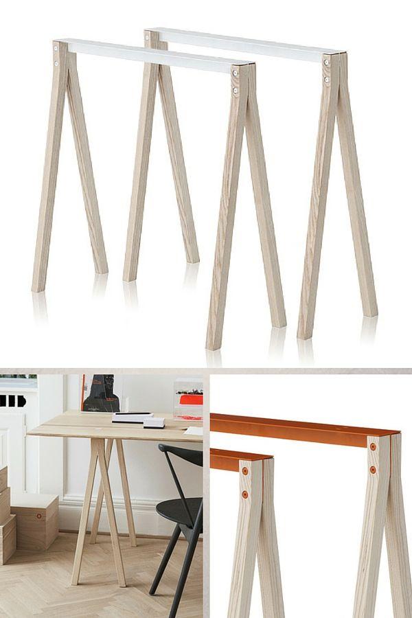 Trteaux Design 21 Ides Pour La Table Ou Le Bureau Trteaux