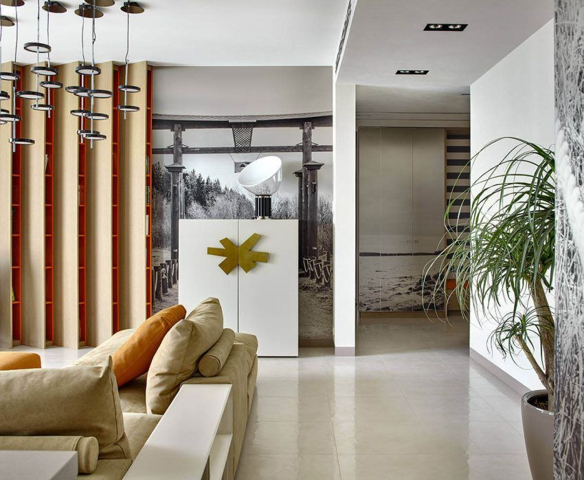 Supreme Apartment 01 850x698 Gruppa Geometra Designs a Trendy Apartment in Moscow, Russia