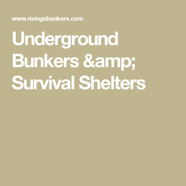 Shtf Shelter: Underground Bunkers & Survival Shelters