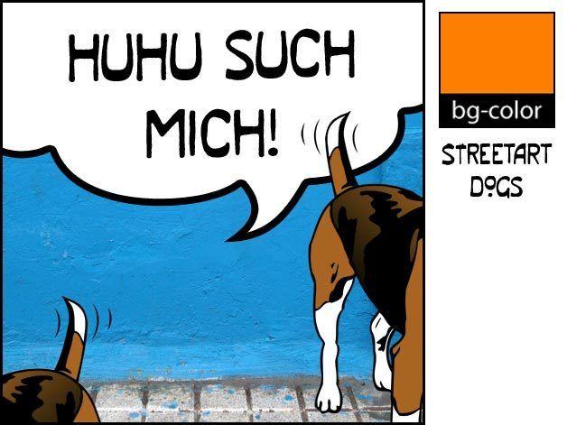 Kunstverstecke+Beagle+Illustration+Streetart+Comic+von+bg-color+auf+DaWanda.com