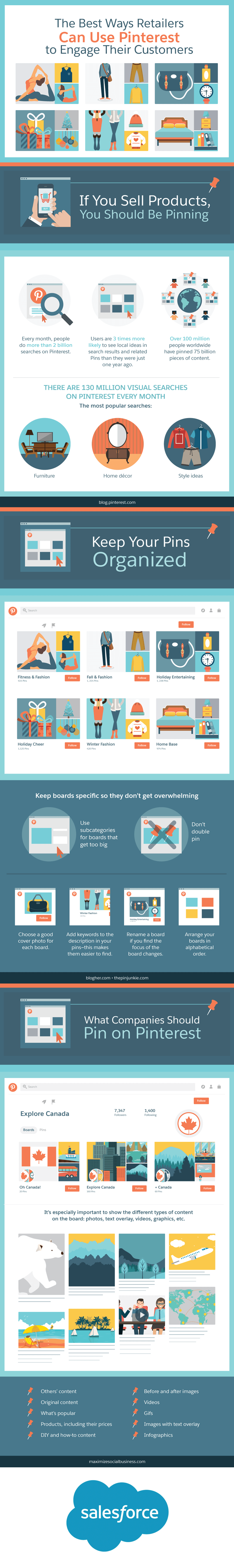 The Best Ways Retailers Can Use Pinterest to Engage Their Customers - infographic