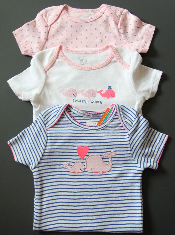 df6828480 Carter's Just One You 3 pack Bodysuits ~ Whale ~ Anchor ~ I Love my Mommy ~  #Carters #Everyday