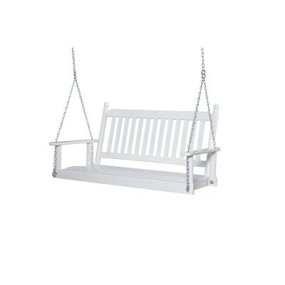 2 Person White Porch Swing 204psw Rta
