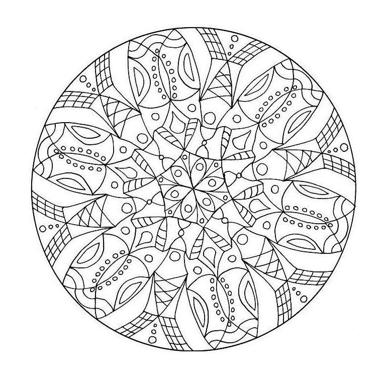 Coloriage Mandala Difficile A Imprimer Gratuit Coloriage