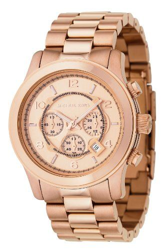 The runway rose tone on this Michael Kors makes this watch real Iconic classic. With its oversized chronograph helps the Michael Kors to really grab the spotlight. #michaelkors, #glodwatches,# classicwatches, #menswatches