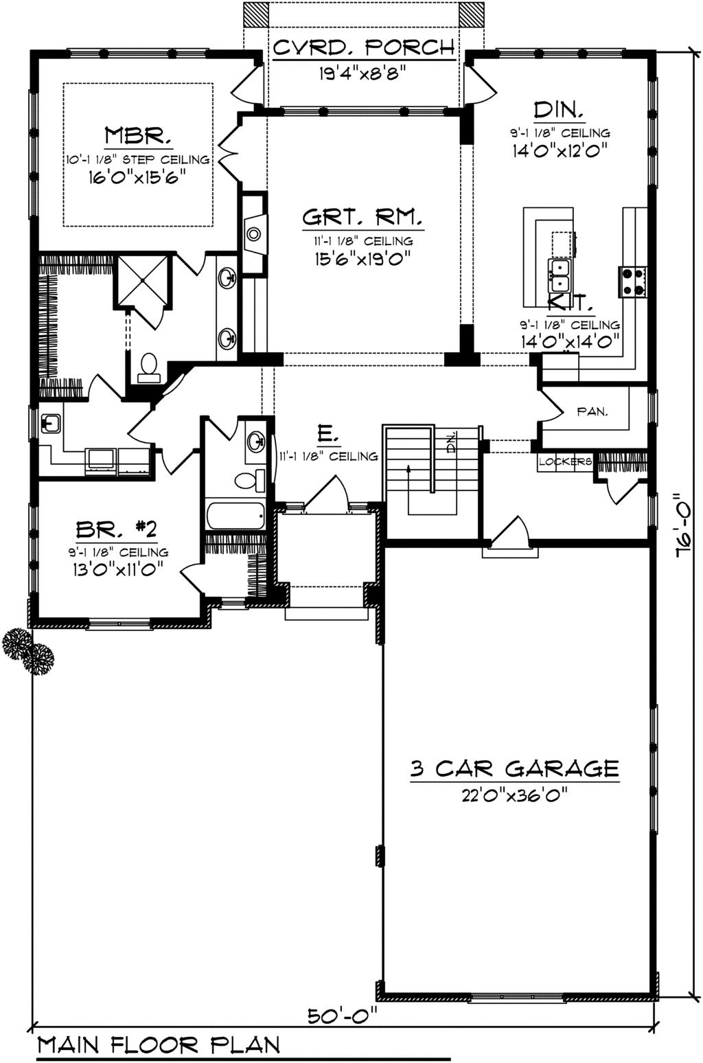 Ranch Style House Plan 2 Beds 1 5 Baths 1993 Sq Ft Plan 70 1096 Bedroom House Plans Retirement House Plans House Floor Plans