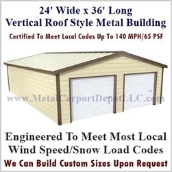 Best Metal Buildings Boxed Eave Style 24 X 36 X 8 Metal 640 x 480