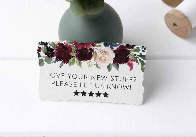 Review Request Cards – Leave A Review Stickers – Feedback Sticker – Etsy Package Insert – Review Reminder – Packing Supplies