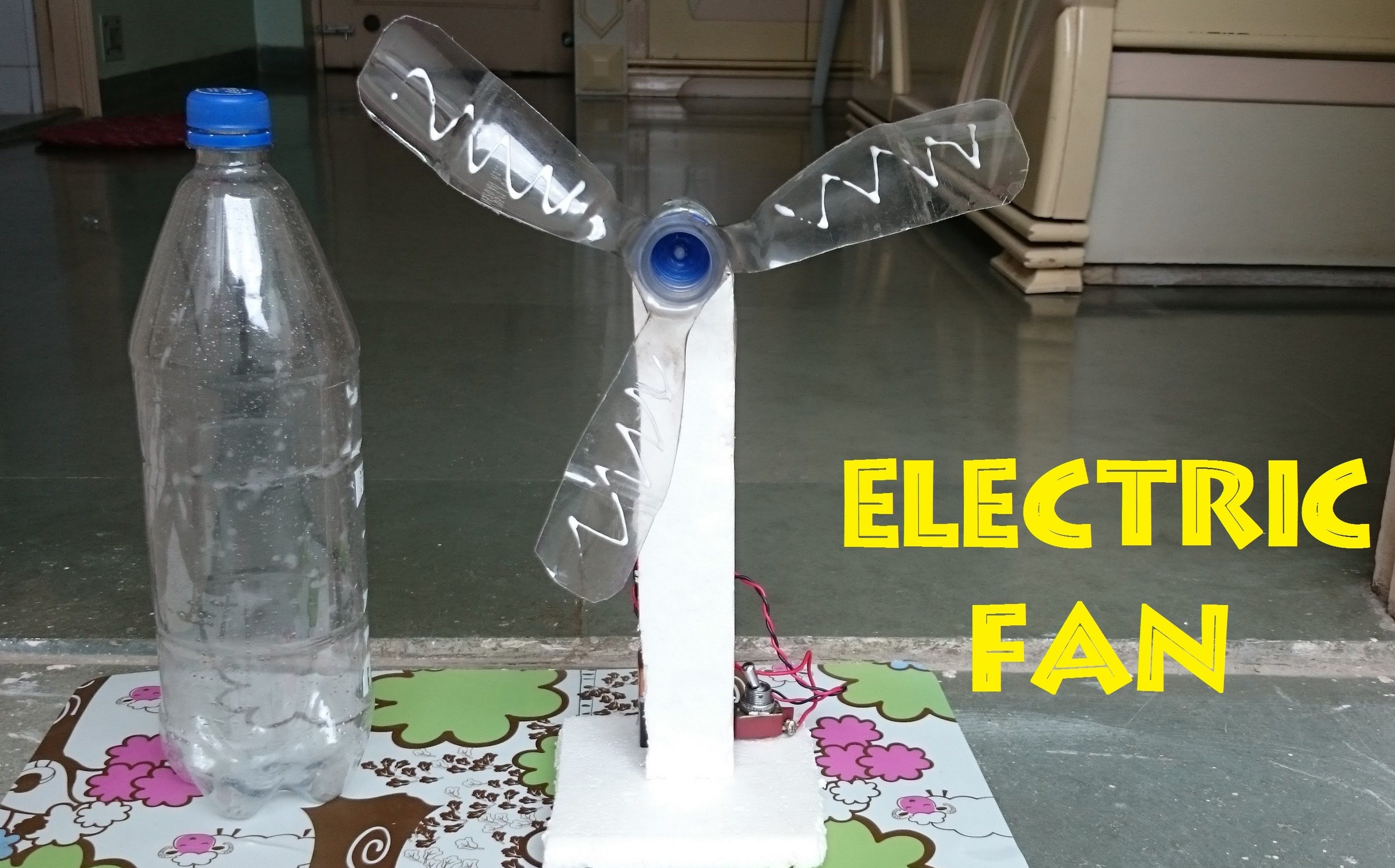 How to make an electric table fan from bottle easy way for Best out of waste ideas for college students
