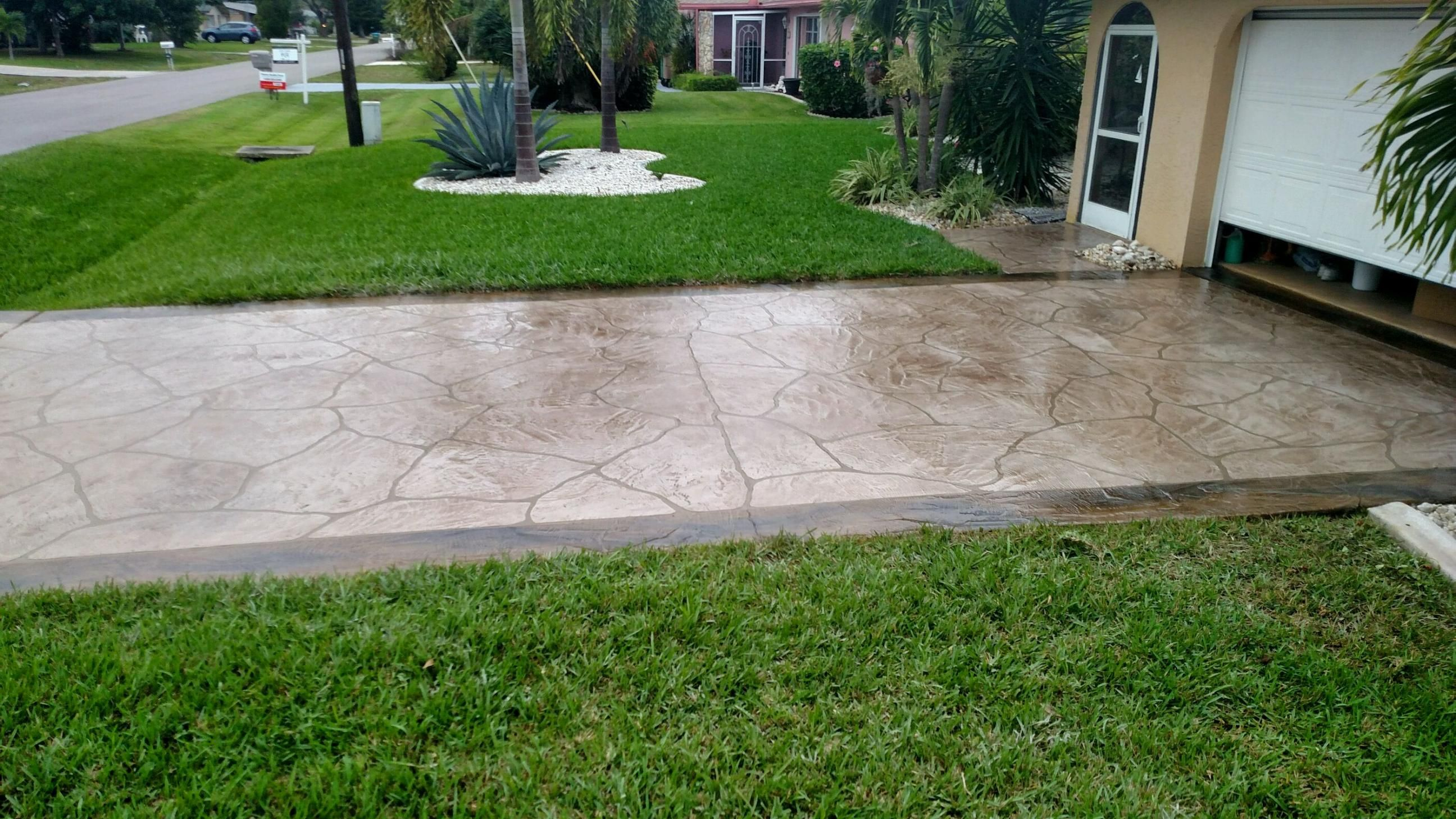 Driveway In Cape Coral Fl See More At Http Msdcurbing Com