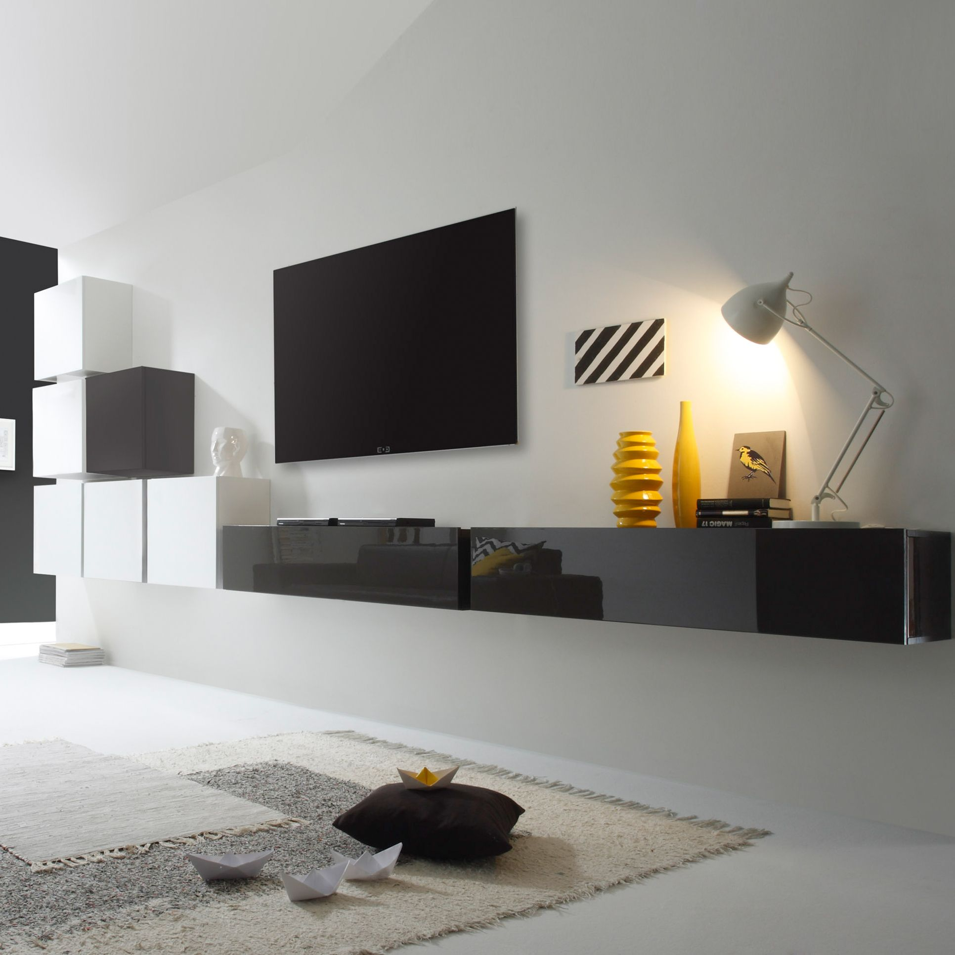 die moderne wohnwand serie cube steht f r. Black Bedroom Furniture Sets. Home Design Ideas