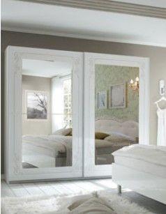 armoire chambre adulte blanche design sisi | chambre adulte design