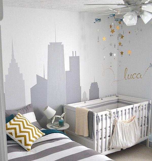 Habitaci n compartida con cama y cuna hijos pinterest for Ideas para decorar habitacion compartida nino nina