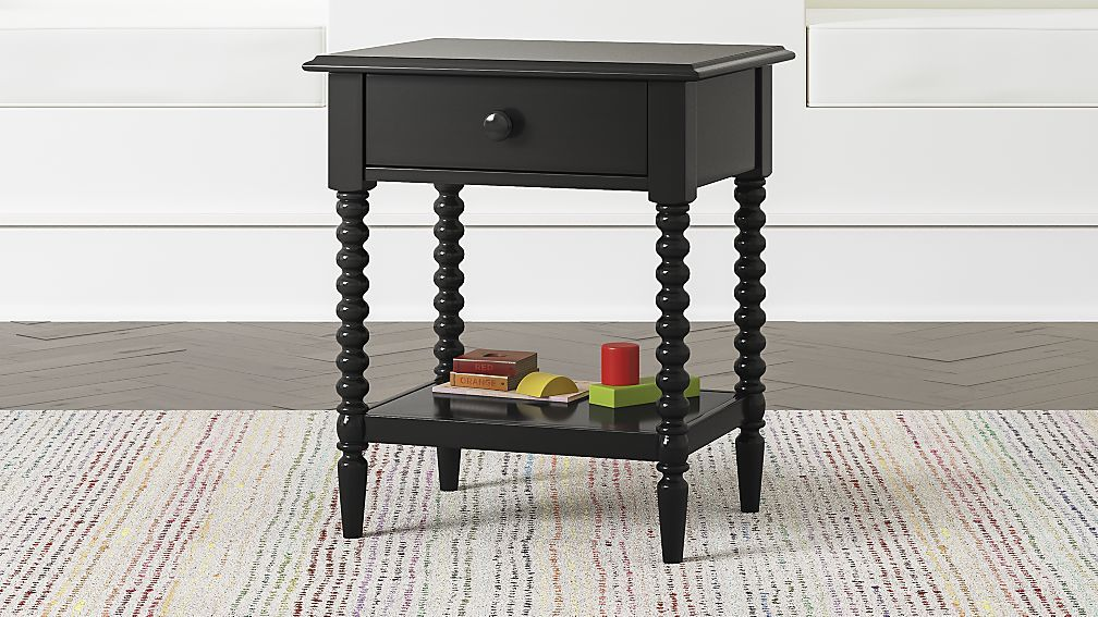 Kids Jenny Lind Black Nightstand + Reviews Crate and