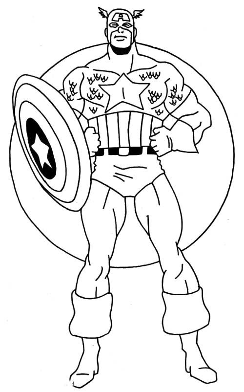 Cool Captain America Coloring Page Captain America Coloring