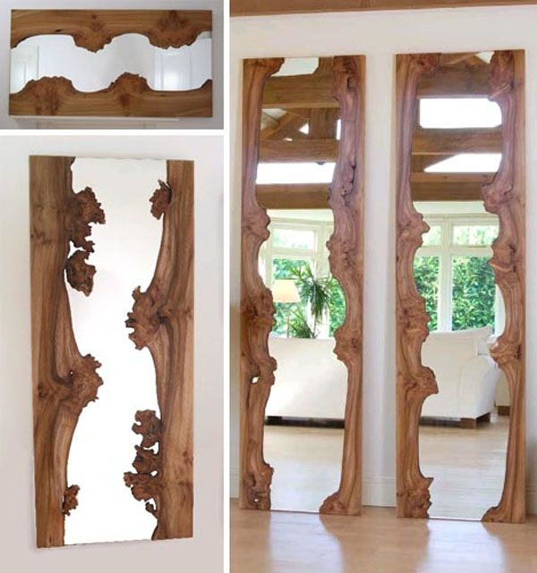 Wood Mirrors Natural Clical Style Mirror