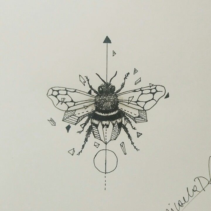 Geometric Bee Tattoo: Geometric Bee By Micaela Poutay (inspired By Kerby Rosanes