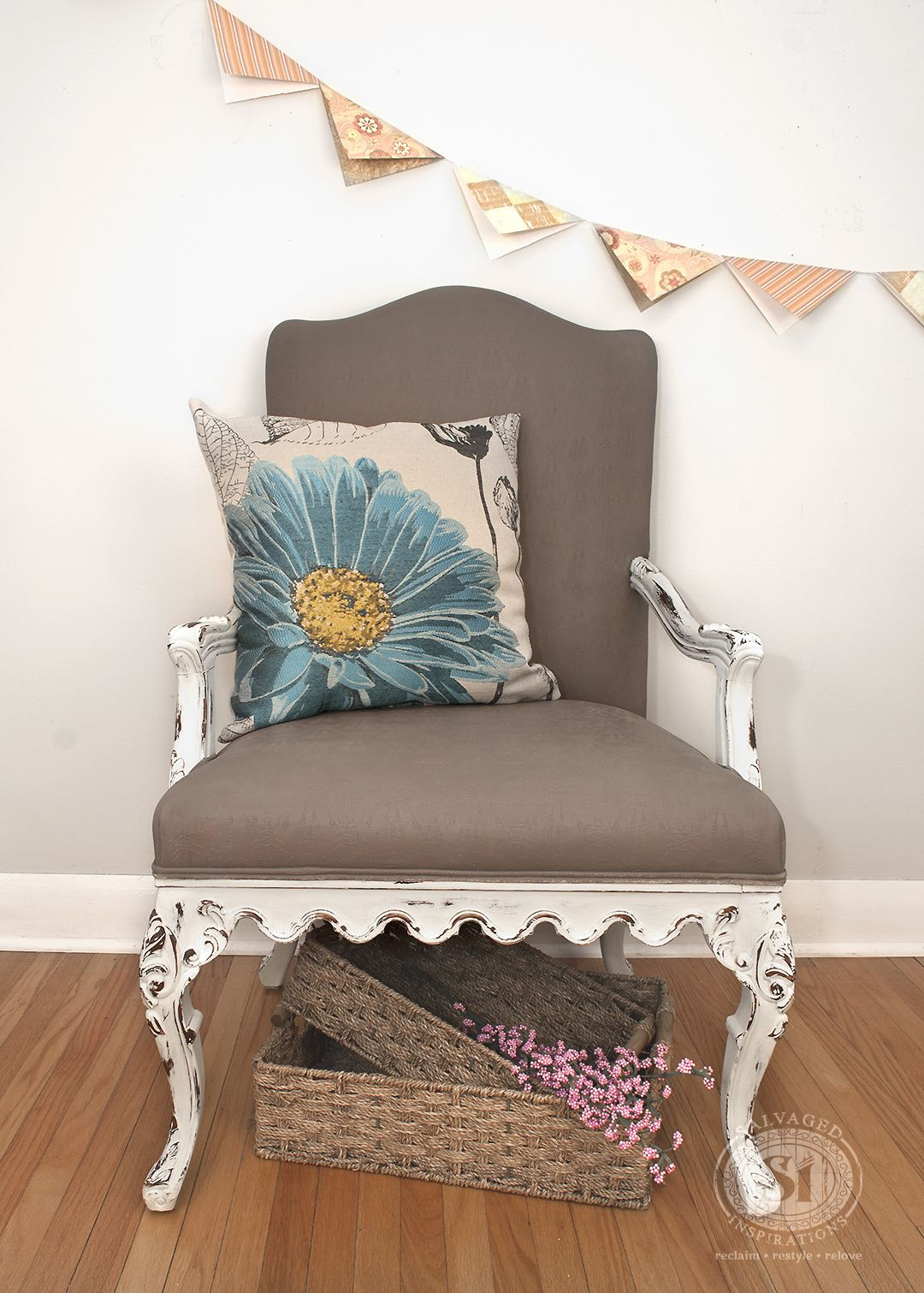 painting fabric with chalk style paints granny chair makeover easy furniture refinishing. Black Bedroom Furniture Sets. Home Design Ideas