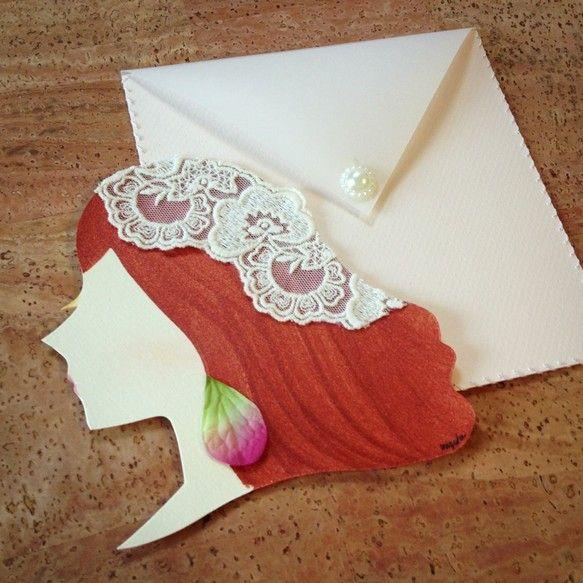 パリにいるおしゃれな女の子をイメージしたカードです☆*:.。. -Amélie(アメリ) ♢ 手芸店で好きな糸を毎日少しずつ買うことが日課のシャ...|ハンドメイド、手作り、手仕事品の通販・販売・購入ならCreema。