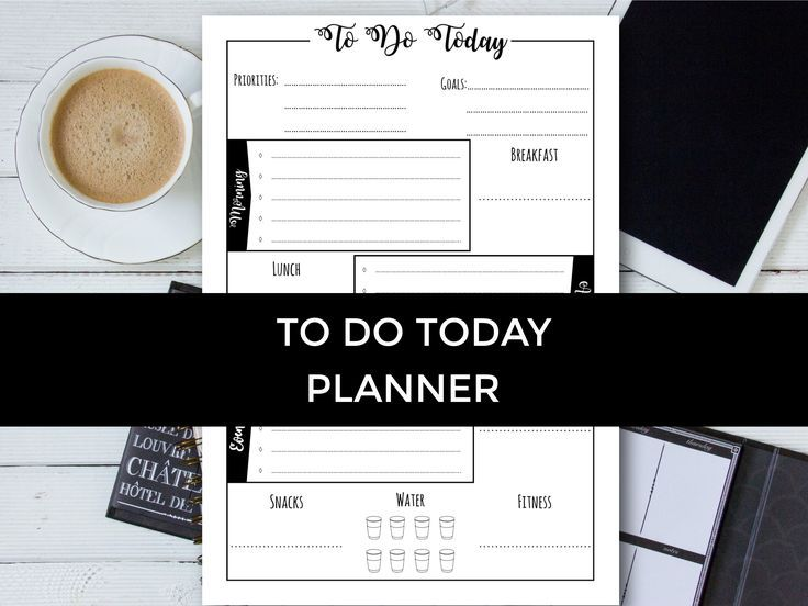 To Do Today Planner, Today Planner, To Do Printable