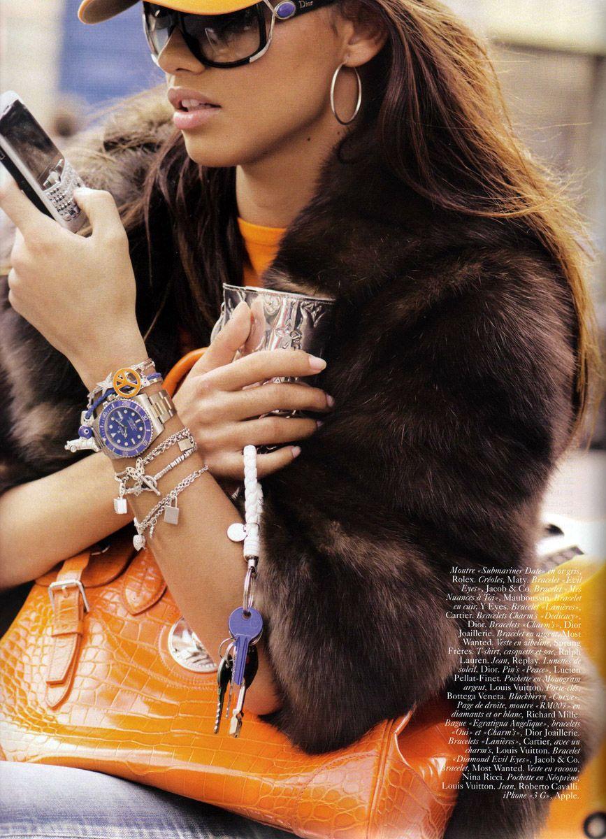 "Vogue Paris November 2008 ""Rien á cacher"" Model Adriana"