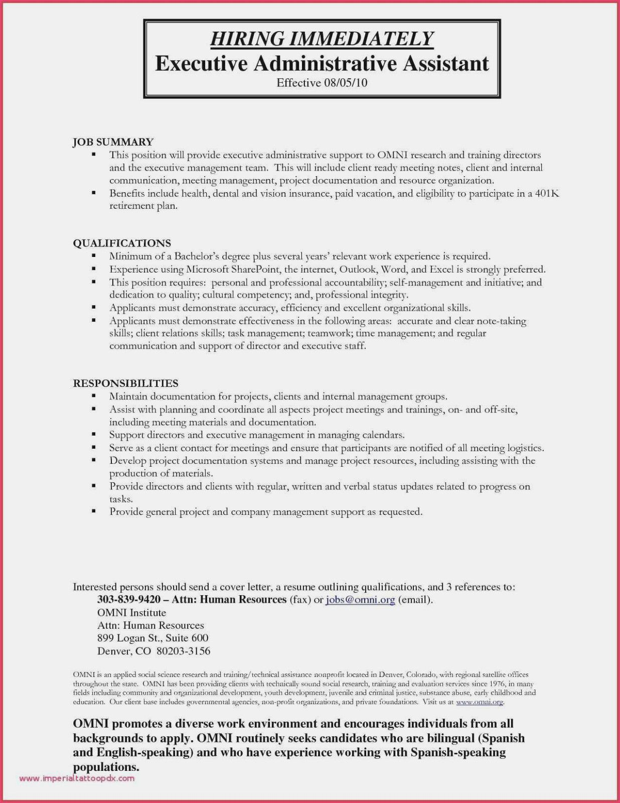 Personal Assistant Resume Samples 2019
