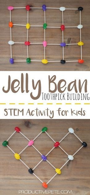 Jelly Bean Toothpick Building | STEM Activity for Kids #stemactivitieselementary