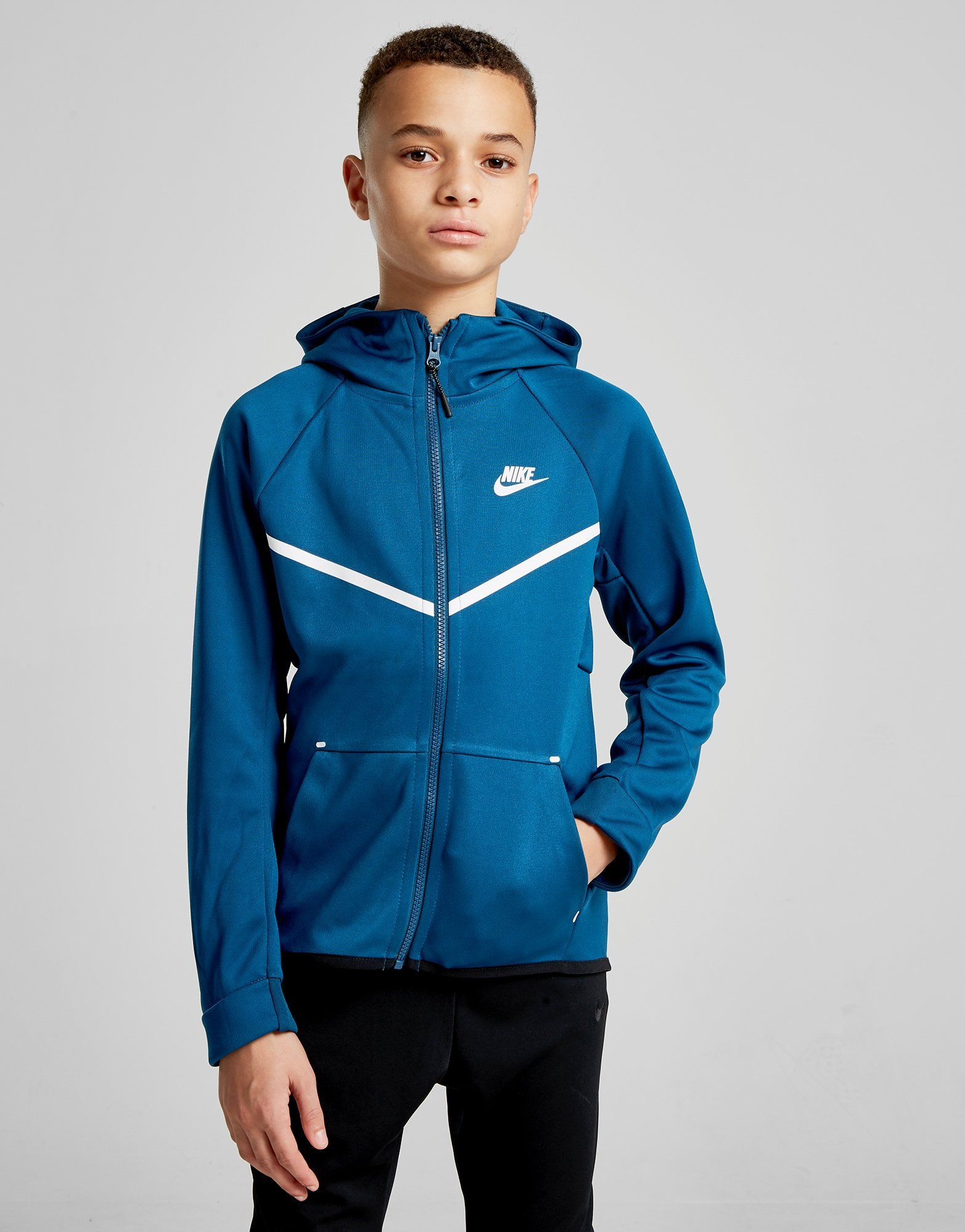 56e7ef0e2cde Nike Tech Poly Full Zip Hoodie Junior - Shop online for Nike Tech Poly Full  Zip Hoodie Junior with JD Sports