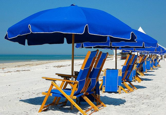 Royal Blue Beach Umbrellas With Images