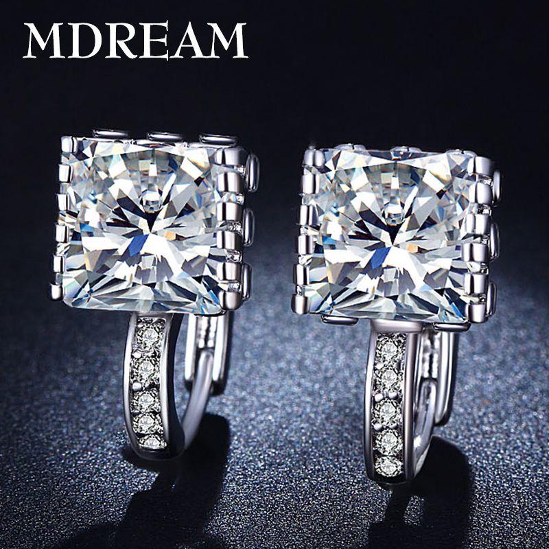 도매 slive 도금 패션 웨딩 후프 귀걸이 보석 Earings 약혼 패션 귀걸이 보석 귀걸이 LSE016