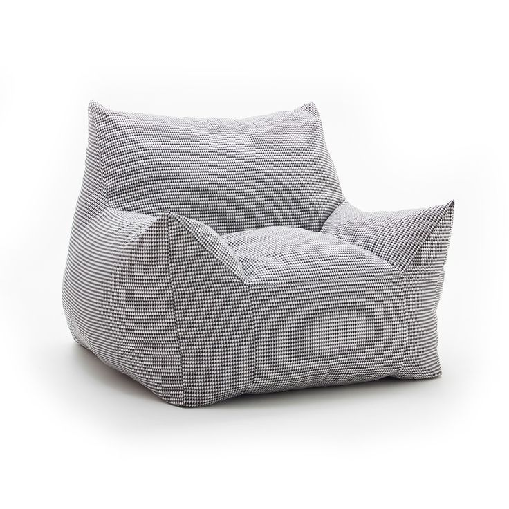 Fufsack Memory Foam Imperial Houndstooth Black And White Bean Bag Lounge Chair Ping Great Deals On Bags