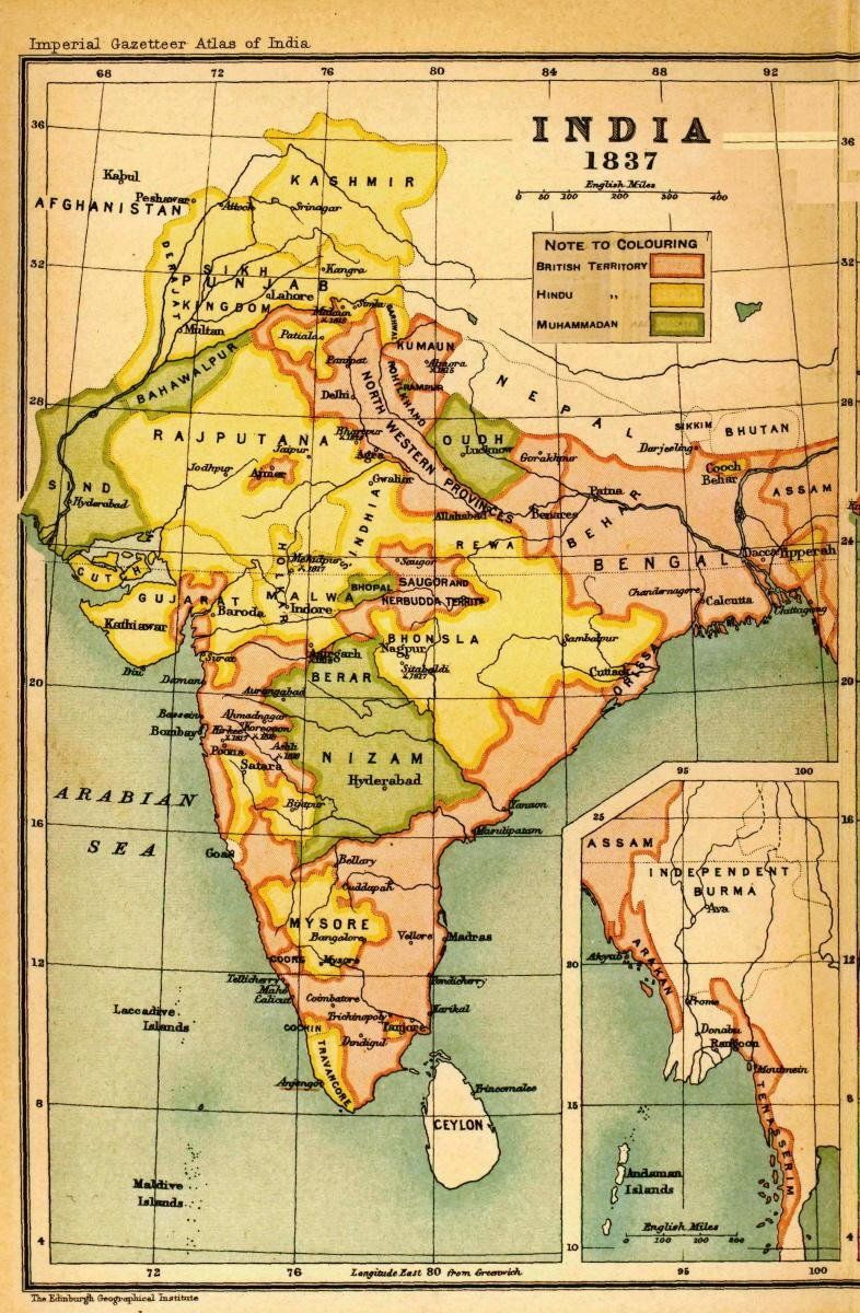 Antique map of india1837 map geek i admit it pinterest antique map of india1837 gumiabroncs Images