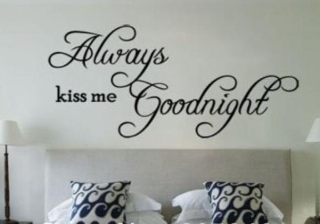 Muursticker Always Kiss me goodnight   Muurstickers   Pinterest