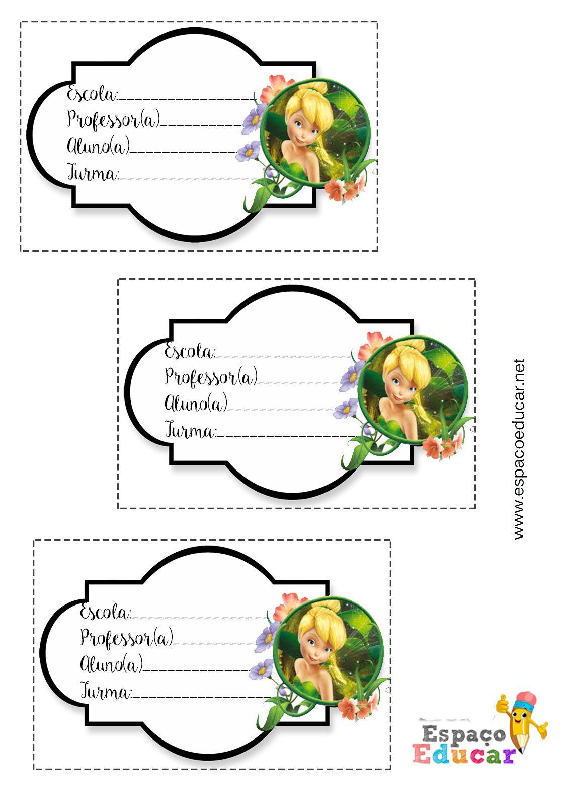 Lindas Etiquetas Da Sininho Tinkerbell Para Imprimir Etiqueta